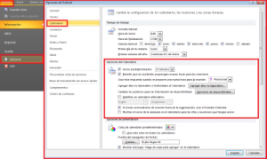 Avisos en Outlook 2010