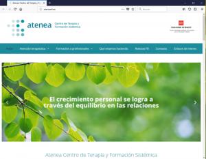 Web Atenea, Centro de Terapia y Formación Sistémica