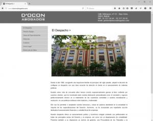 Web D'Ocon Abogados