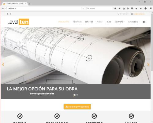 Web Levelten Construcciones y Servicios