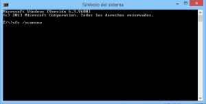 Herramienta Comprobador de archivos de Sistema