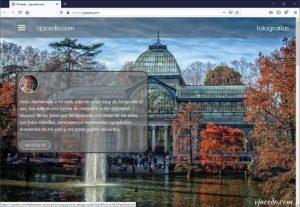 Web vjacedo.com, actualización.